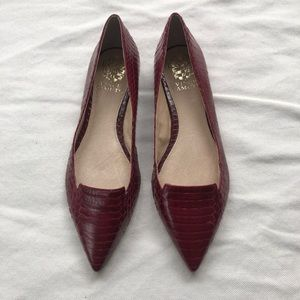 Red Vince Camuto pointed flats